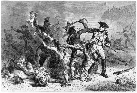 Montcalm attempts to stop native warriors from attacking the British. A number of British soldiers were killed after the Siege of Fort William Henry.